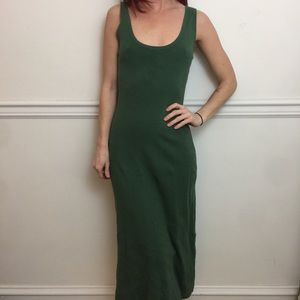 A.L.C. Green Sleeveless Sheath Long Maxi Dress